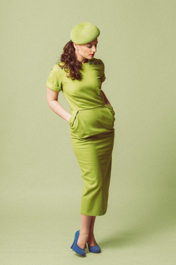 zelené kašmírové šaty jeden kus vel.S/M